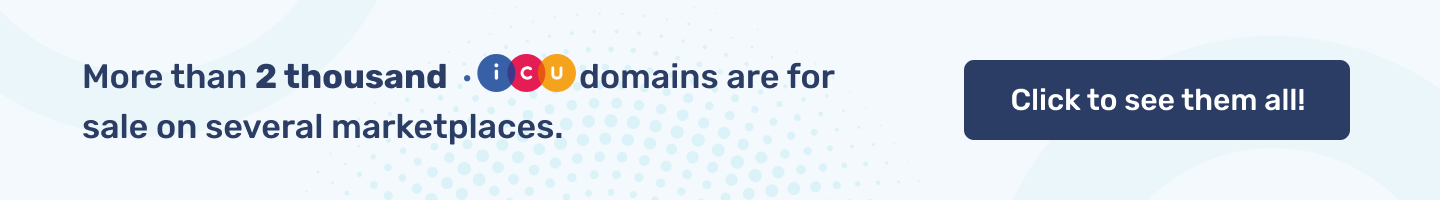 More than 2 thousand .icu domain names are for sale on several marketplaces.