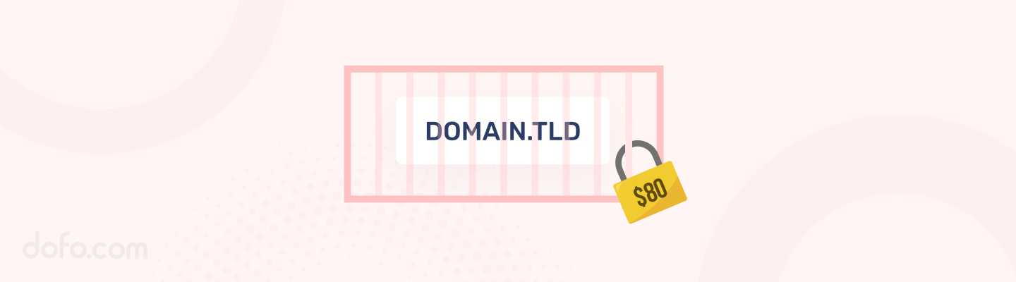 The redemption period is the period a domain name enters when it's not renewed.